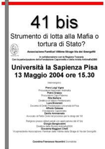 41 Bis Maggio 2004 Pisa
