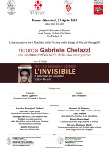 Ricordo Chelazzi Aprile 2013
